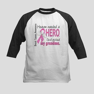 Heaven Needed a Hero Breast Cancer Kids Baseball J