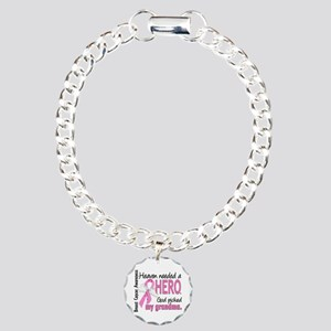 Heaven Needed a Hero Breast Cancer Charm Bracelet,