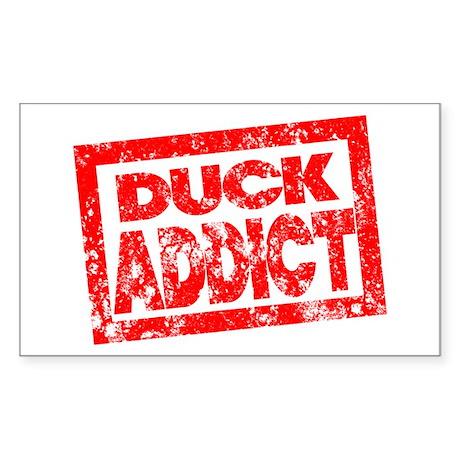 Duck ADDICT Sticker (Rectangle)