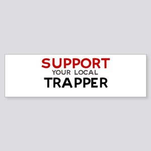 Support: TRAPPER Bumper Sticker