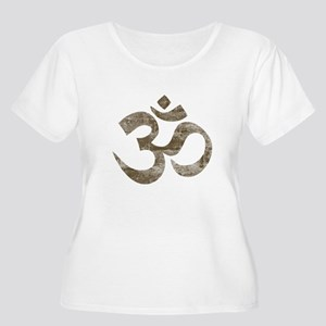 Vintage Om Symbol Women's Plus Size Scoop Neck T-S