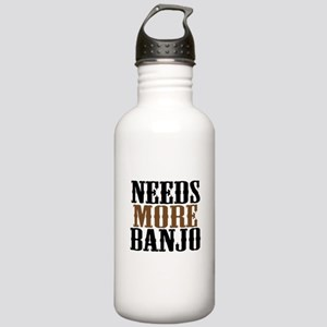 Needs More Banjo Stainless Water Bottle 1.0L