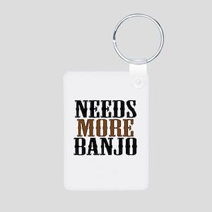 Needs More Banjo Aluminum Photo Keychain