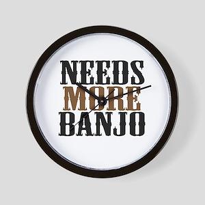 Needs More Banjo Wall Clock