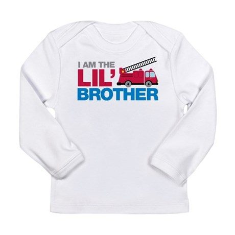 Firetruck Little Brother Long Sleeve Infant T-Shir