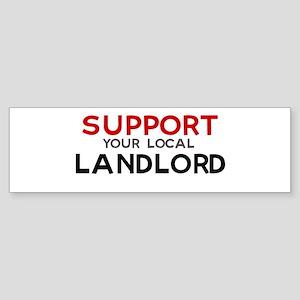 Support: LANDLORD Bumper Sticker