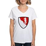 36th Engineer Women's V-Neck T-Shirt