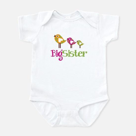 Tweet Birds Big Sister Infant Bodysuit