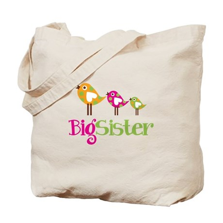 Tweet Birds Big Sister Tote Bag