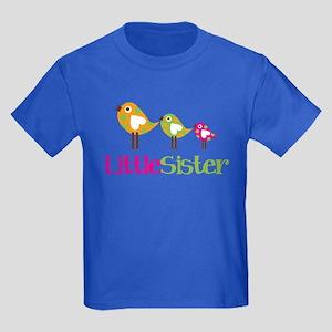 Tweet Birds Little Sister Kids Dark T-Shirt
