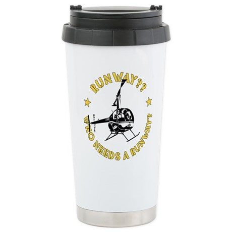 Runway Yellow Stainless Steel Travel Mug