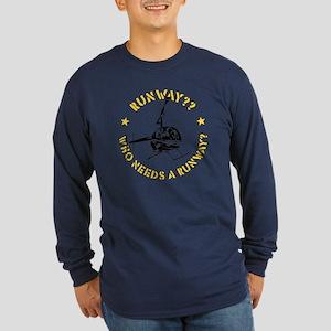 Runway Yellow Long Sleeve Dark T-Shirt