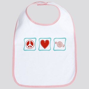 Peace, Love and Candy Bib
