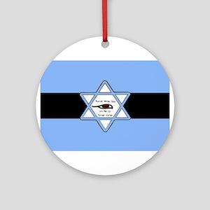 Mossad Flag Ornament (Round)