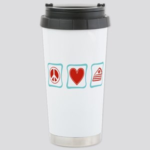Peace, Love and Pie Stainless Steel Travel Mug