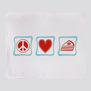 Peace, Love and Pie Throw Blanket