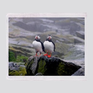 Puffin Twins Throw Blanket