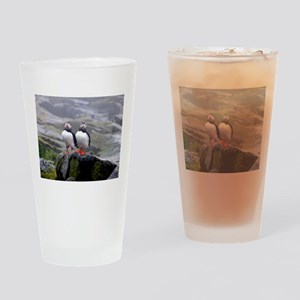 Puffin Twins Drinking Glass
