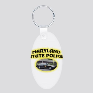 Maryland State Police Aluminum Oval Keychain