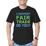 I Support Fair Trade Men's Fitted T-Shirt (dark)