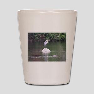 Heron at Elm Park Shot Glass