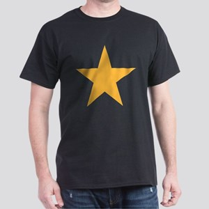 Five Pointed Yellow Star Dark T-Shirt