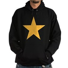 Five Pointed Yellow Star Hoodie (dark)