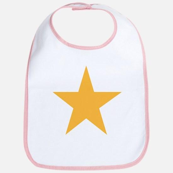Five Pointed Yellow Star Bib