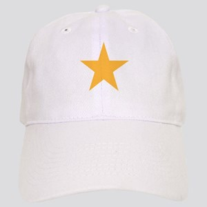 Five Pointed Yellow Star Cap