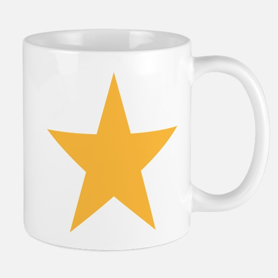 Five Pointed Yellow Star Mug