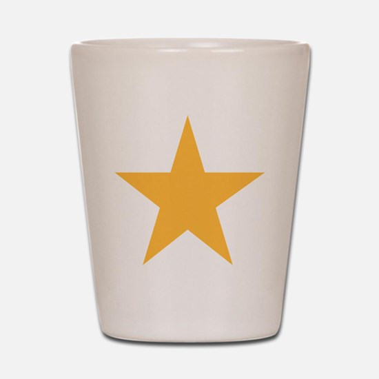 Five Pointed Yellow Star Shot Glass
