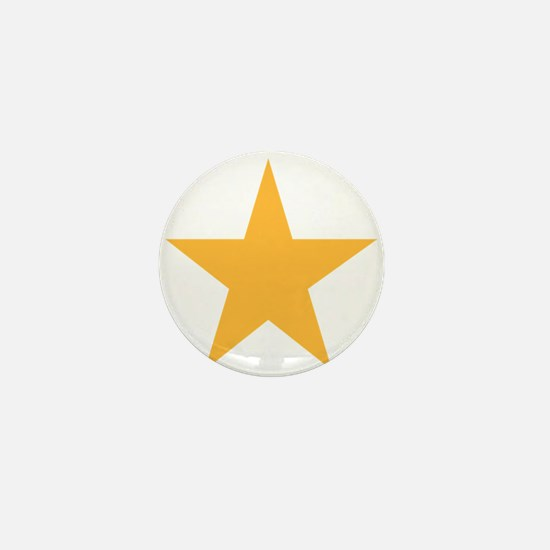 Five Pointed Yellow Star Mini Button