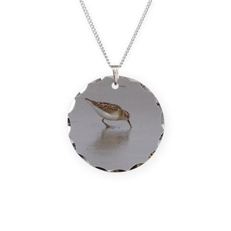 Sandpiper Necklace Circle Charm