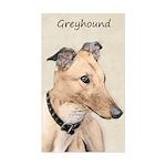 Greyhound Sticker (Rectangle)