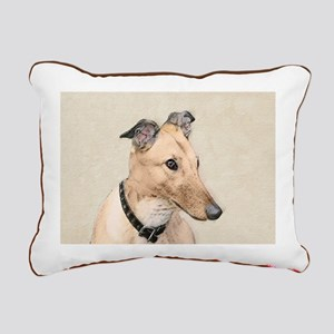 Greyhound Rectangular Canvas Pillow