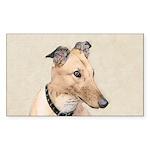 Greyhound Sticker (Rectangle 10 pk)