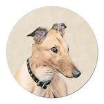 Greyhound Round Car Magnet