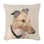 Greyhound Woven Throw Pillow