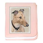 Greyhound baby blanket