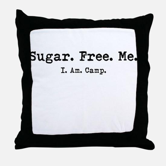 sugar free me Throw Pillow