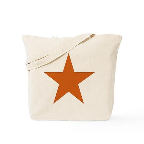 Five Pointed Burnt Orange Star Tote Bag