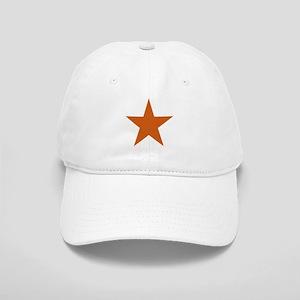 Five Pointed Burnt Orange Star Cap