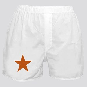 Five Pointed Burnt Orange Star Boxer Shorts