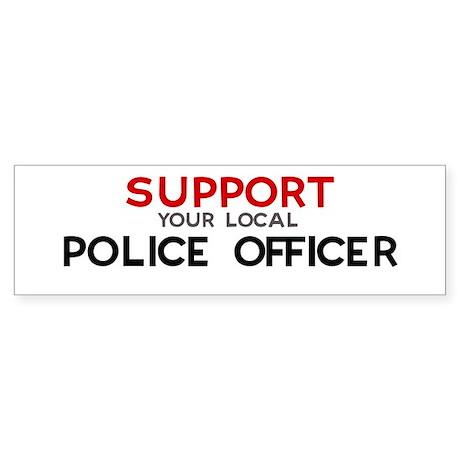 Support: POLICE OFFICER Bumper Sticker