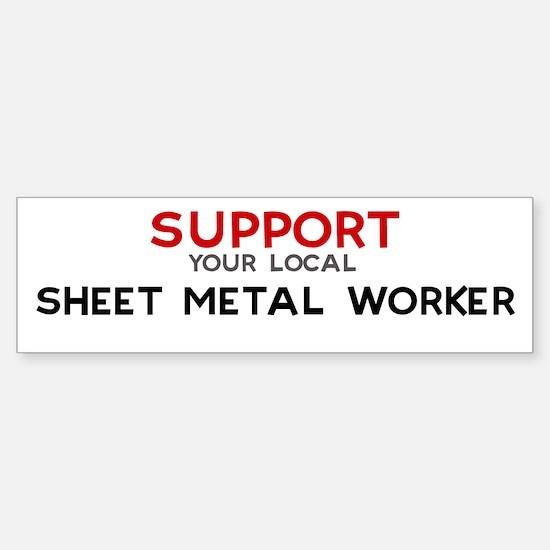 Support: SHEET METAL WORKER Bumper Car Car Sticker