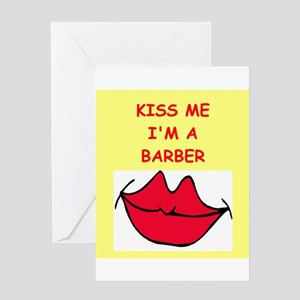 barber Greeting Card