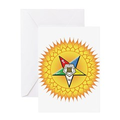 OES Star in the sun Greeting Card