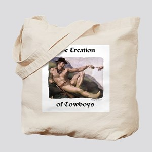 Creation of Cowboys Tote Bag