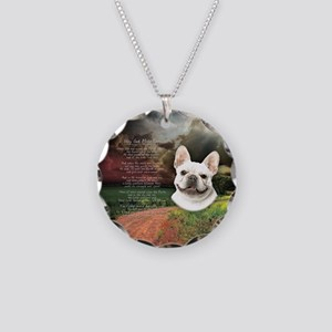 """""""Why God Made Dogs"""" French Bulldog Necklace Circle"""