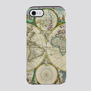Vintage Map of The World (1670 iPhone 7 Tough Case